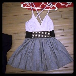 Grey dress with silver studs